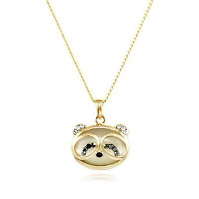 KingDee Cute Panda Eyes Crystal Necklace